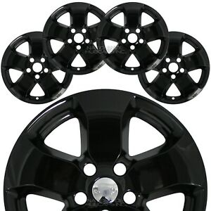 For Jeep Grand Cherokee 2011 2012 2013 Black 18 Wheel Skins Hub Caps Rim Covers