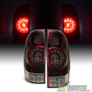 For Red Smoked 2005 2015 Toyota Tacoma Tail Lights Brake Lamps 05 15 Left right