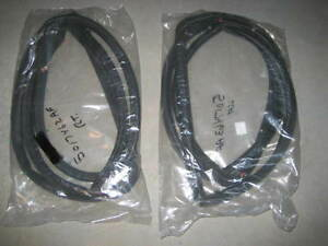Jeep Wrangler Tj Lj 1997 2006 Pair Full Door Weather Seals With Clips Brand New