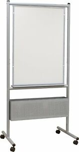 Best rite Mobile Nest Easel Platinum Frame Double Sided Durarite Hpl Whiteboard