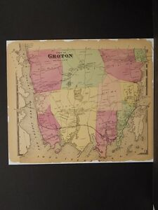 Connecticut New London County Map 1868 Town Of Groton 24