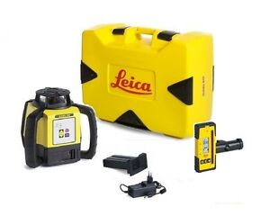 Rotating Laser Leica Rugby 620 W Rod Eye 140 Li ion Battery Package 6005984