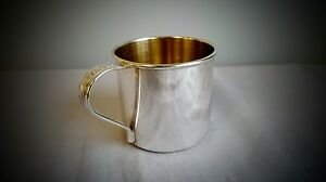 Rare Baby Cup Song Of Autumn Oneida Community Silver Plate Gold Inside