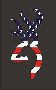 Browning Style Deer Buck Hunting Usa 6 Decal Vinyl Sticker New American Flag