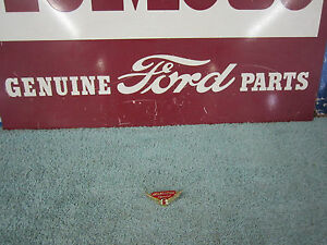 1958 Ford Nos Interceptor Special Glove Box Emblem