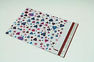 200 Bags 100 10x13 Blue Hearts 100 10x13 Dots Designer Poly Mailers Envelopes