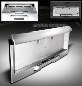 For 03 04 05 Hummer H2 Truck Rear License Plate Cover Frame Molding Trim Chrome