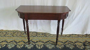 Antique Demilune Console Table Mahogany Federal