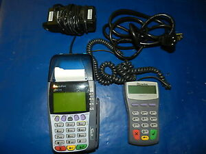 Verifone Omni 3750 Credit Card Terminal W Pinpad 1000se Power Cord