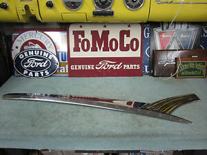 1956 Ford Fairlane Nos 4 Door Front Driver Door Stainless B6a 7320939 b