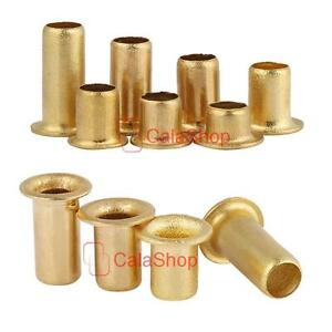 Metric Brass Eyelet Rivets Crafting Findings Through Nuts Hole Hollow Grommets