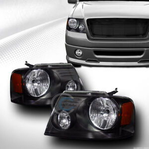 Black Crystal Head Lights Lamps Signal Amber Dy 2004 2008 Ford F150 2006 Mark Lt