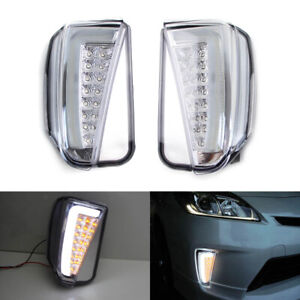 Clear Switchback Led Daytime Running Light Turn Signal For 2012 15 Toyota Prius