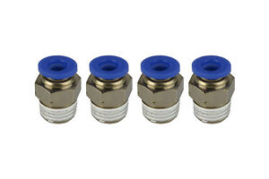 4 Piece Pneumatic Air Quick Push To Connect Fitting 1 4 Npt To 1 4 Od 6mm