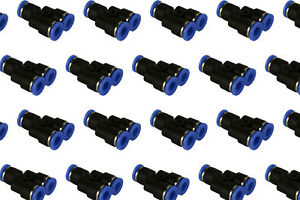 100 Piece Pneumatic Air Quick Push To Connect Fitting 1 4 Od y Split Tube 6mm