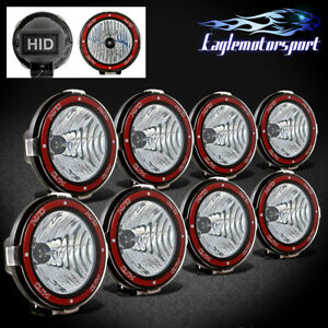 8xunviersal Mount On 7 6000k Xenon Hid 4x4 Off Road Light Fog Driving Lamp