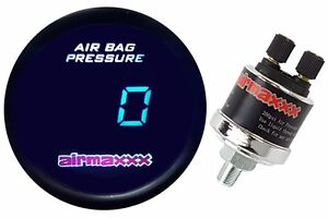 Digital Air Ride Gauge 200psi Display Air Suspension System Part Tinted Led