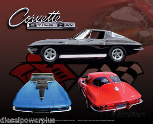 Vintage Replica Tin Metal Sign Corvette Gm Sting Ray Bowtie Chevy Stingray 98475