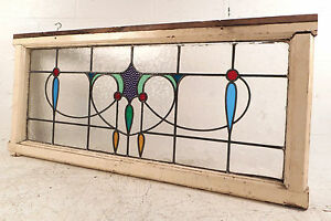 Vintage English Stained Glass Window Panel 2774 Nj