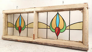 Vintage Stained Glass Window Panel 2785 Nj