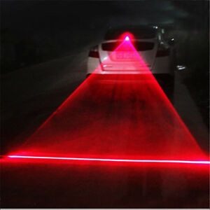 Car Auto Led Laser Fog Light Vehicle Anti Collision Taillight Brake Warning Lamp