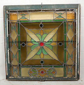 Vintage Stained Glass Window Panel 3269 Nj