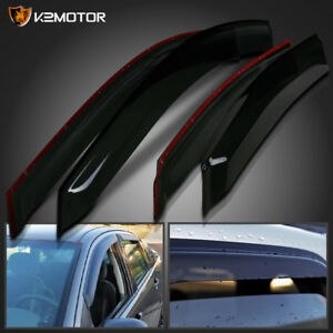 2008 2011 Ford Focus 4dr Window Visors Rain Guard Wind Vent Shade Deflector 4pc