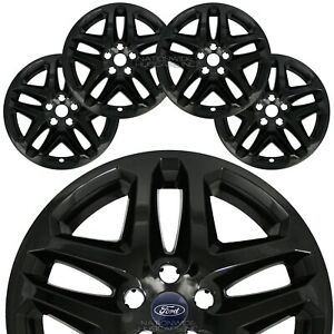 4 Black 13 16 Ford Fusion 17 Wheel Covers Rim Skins Hub Caps Fits Alloy Wheels