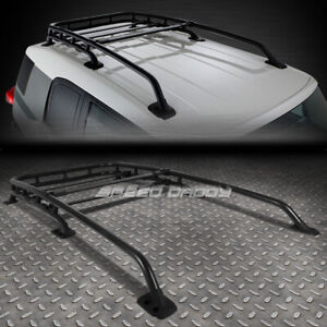 For 07 14 Fj Cruiser Black Aluminum Oe Style Roof Rack Top Cargo Luggage Carrier