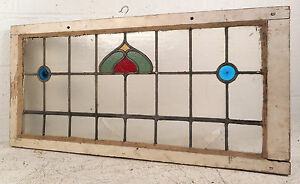 Vintage Stained Glass Window Panel 3179 Nj