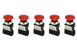 5x Latching Push Button Pneumatic Control Valve 2 Port 2 Way 2 Position 1 8 Npt