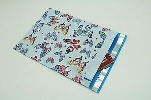 200 Bags 100 10x13 Butterfly 100 10x13 Roses Designer Poly Mailers