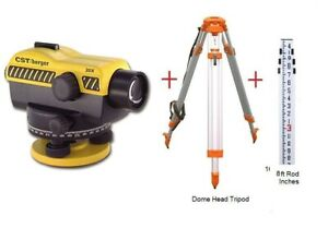 Bosch Cst berger Sal20nd 20x Auto Level W Dome Tripod Rod Package