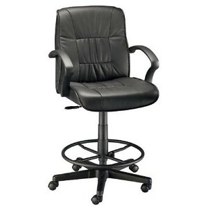 Alvin Art Director Executive Leather Chair Drafting Height ch777 90dh New