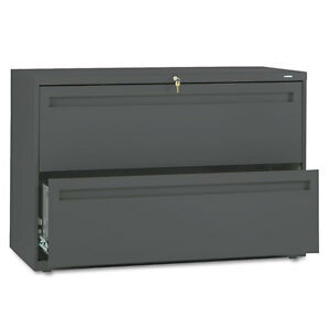 Hon Hon792ls 700 Series Two drawer Lateral File 42w X 19 1 4d Charcoal