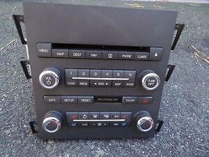 Am Fm Radio Media Climate Controls Phone Cd Player Navi Map Switch Oc16k847