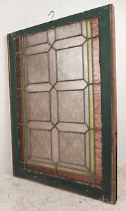 Vintage Stained Glass Window Panel 3189 Nj