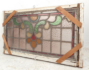 Vintage Stained Glass Window Panel 3205 Nj