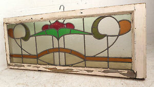 Vintage Stained Glass Window Panel 3222 Nj