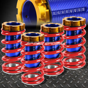 For 88 00 Civic Eg Ek dc Lowering Blue Scaled Suspension Coilover Red Spring