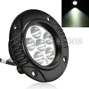 3 Inch 18w 6000k Round Led Spot Work Light Fog Driving Lamp Offroad Boat Suv