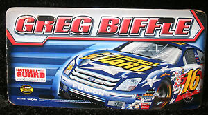 Greg Biffle Ford Fusion Nascar License Plate Tag Sign Roush Racing 16 Sprint New