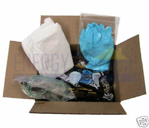 Foam Safety Kit Respirator Goggles Coveralls Gloves