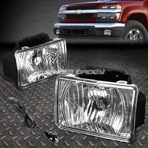 For 04 12 Chevy Colorado Gmc Canyon Clear Lens Bumper Fog Light Lamps W switch