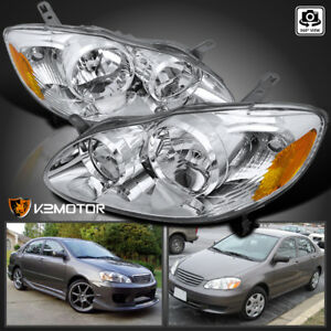 For 2003 2008 Toyota Corolla Crystal Replacement Head Lamp Headlights Left Right