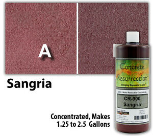 Professional Easy To Apply Water Based Concrete Stain Sangria