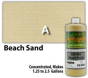 Professional Easy To Apply Water Based Concrete Stain Beach Sand