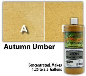 Professional Easy To Apply Water Based Concrete Stain Autumn Umber