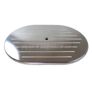 Polished Aluminum Ball Milled 12 Oval Air Cleaner Lid Top Only Sbc Bbc 350 Rod