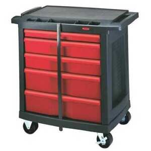 Trade Cart service Bench 19 13 16 In W Rubbermaid Fg773488bla